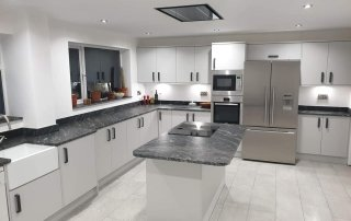 Black Forest Leathered Granite Worktops, Ruthin. We love these stunning