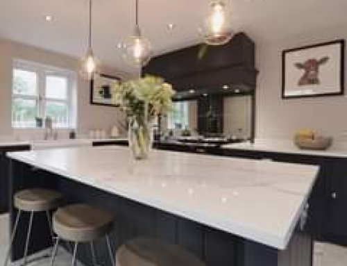 A stunning kitchen, beautifully finished off with 30mm Calacatta Quartz